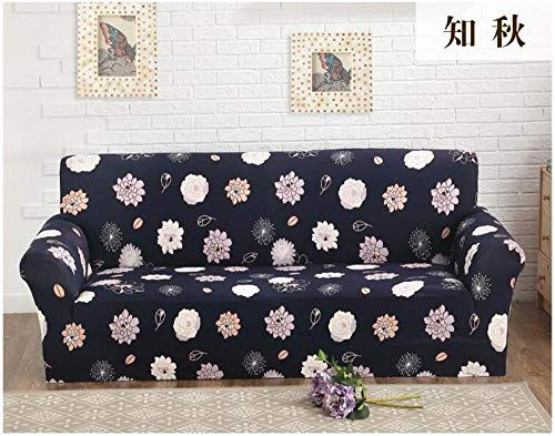 1 Protector elástico para Muebles,Four Seasons Universal Cushion Cover, Elastic Non-Slip Sofa Cover, Full Cover Sofa Furniture Dust Protection Cover-Color 8_195-230cm