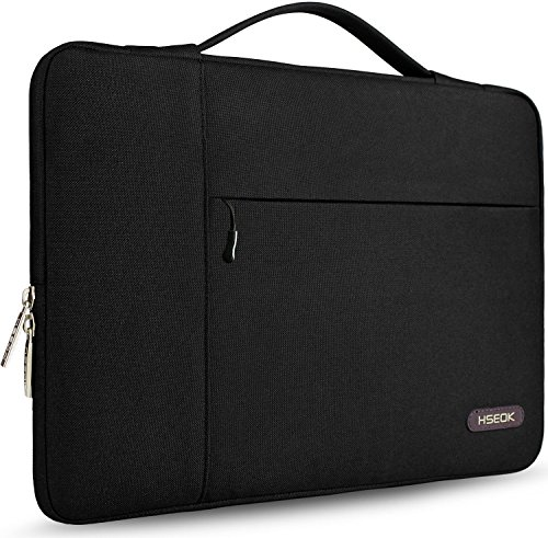 HSEOK 11-13 Pollici Borsa Portatile Custodia Protettiva Super Sottile Impermeabile Ventiquattrore per 13  MacBook Air Pro A1932 A1989 A1706 A1708 MacBook 11.6  e 11 -13  Laptops NoteBook, Nero carbone