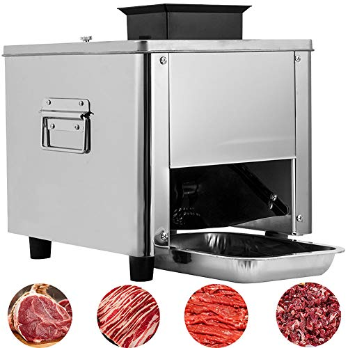 BI-DTOOL Slicer Machine Commercial Meat Cutter 0.4' Stainless Steel Blade 1100LB Per Hour Electric Stainless Steel Desktop Meat Slicers Commercial