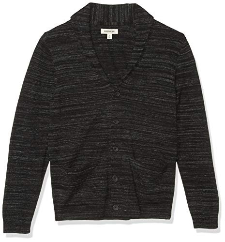 Amazon Brand - Goodthreads Men's Soft Cotton Cardigan Summer Sweater, Black, Large