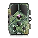 Campark WiFi Bluetooth Trail Camera 20MP 1296P, No Glow Night Vision Game Camera