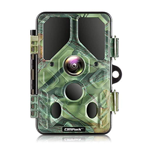 Campark WiFi Bluetooth Trail Camera 20MP 1296P Juego Caza Cámara con 940nm IR LEDs de visión nocturna Activada por movimiento IP66 impermeable para monitoreo de vida silvestre