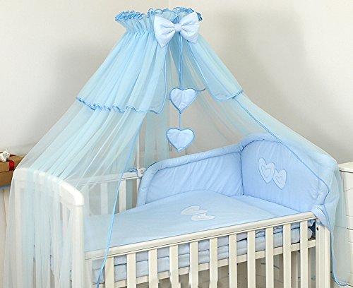 PRO COSMO DE LUJO Dosel- Mosquitera para cuna de bebé + soporte para dosel, Azul