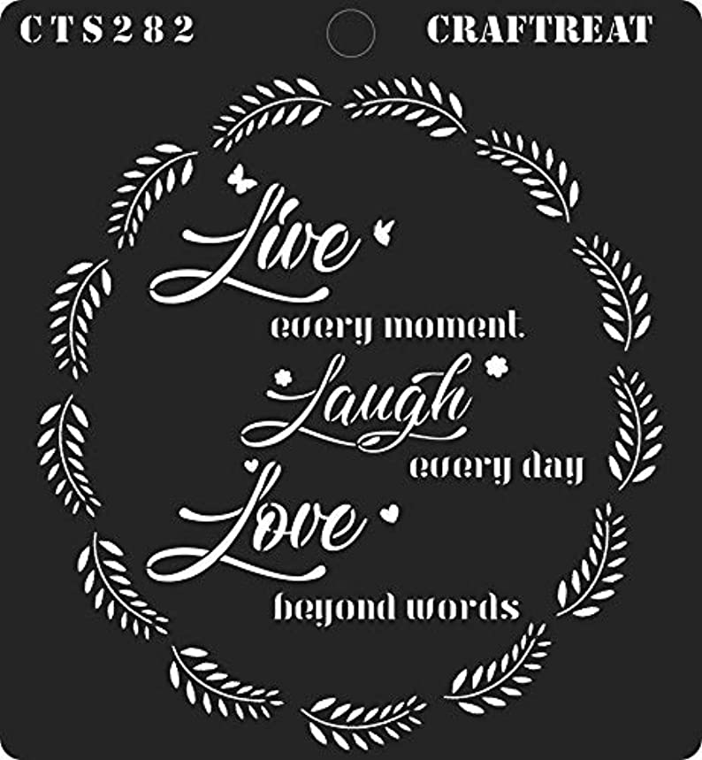 CrafTreat Stencil - Live Laugh Love   Reusable Painting Template for Journal, Notebook, Home Decor, Crafting, DIY Albums, Scrapbook and Printing on Paper, Floor, Wall, Tile, Fabric, Wood 6