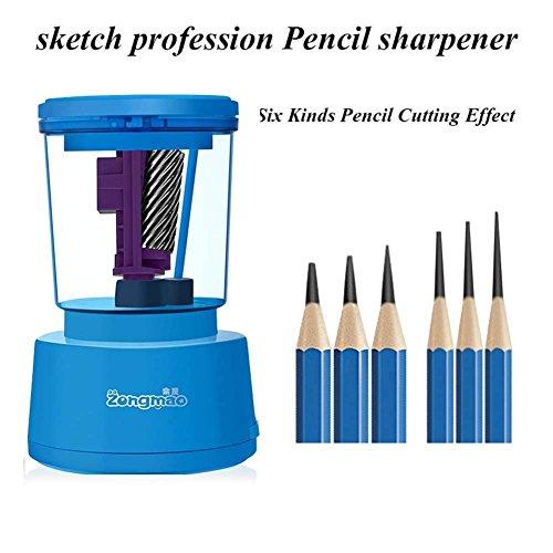 Q&M Automatique Électrique Taille-Crayon Diamètre Compact 6-8Mm pour La Classe Et Aides À La Rédaction De Bureau,Blue