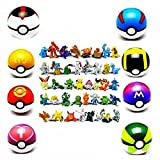 Poke Throw N Pop Pokeballs Set with 8 Poké Balls & 24 Action Figures Perfect for Any Trainer - Ages 4 +
