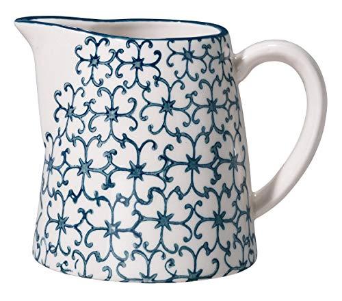 Bloomingville Bricco del latte in grès blu