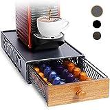 Soporte para cápsulas de café, organizador de cajones de almacenamiento multifuncional para cápsulas Tassimo, bolsas de té, Nespresso, Dolce Gusto, CBTL, Verismo, etc. Gris Puro