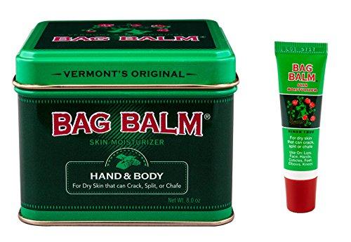 Bag Balm Bundle Animal Tin 8 Oz and OnThego Tube 025 Oz
