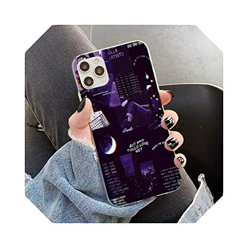 Purple Love Aesthetic Art Girly Phone Case for iPhone 11 12 Pro XS Max 8 7 6 6S Plus X 5S SE 2020 XR case a9-For 11 Pro Max