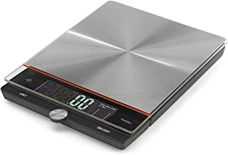Polder Digital Stainless Steel Kitchen Scale, 22 lb Capacity