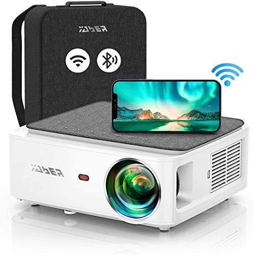 YABER V6 - Proyector Bluetooth WiFi 9000L Actualización Full HD nativo 1920×1080P, Proyector 4P/4D Keystone compatible con 4K y Zoom,...