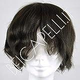 Protesi capelli uomo toupet Colore #2 castano - Spedizione dall'Italia con corriere espresso (Senza capelli grigi)