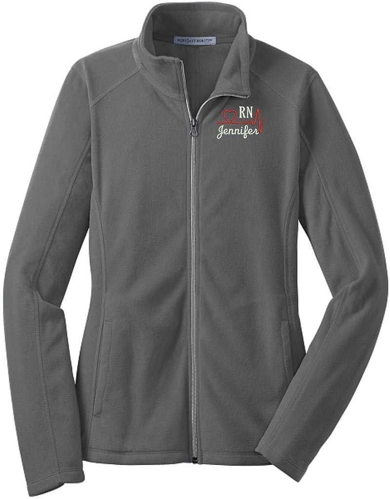 Lane Weston Personalized RN Nurse Full Zip Microfleece Jacket with Pockets