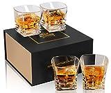 KANARS 4 Pezzi Bicchieri Whisky, Bicchiere Cocktail e Whiskey Cristallo, Bellissimo Regalo...