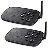 Wireless Intercom System Hosmart 1/2 Mile Long Range 10-Channel for Home Security or Office(2 Stations Black)
