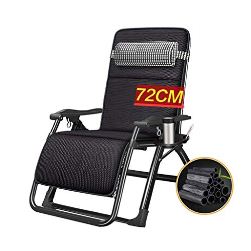 FSXJD Outdoor Foldable Sun Lounger with Headrest Super Width 67 72 CM Reclining Chair Adjustable Garden Deck Chair Portable for Deck Beach Patio Pool- 21