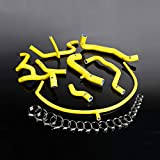 NEW OEM STYLE Insulation Anti-aging Fit For VW GOLF GTI MK3 VR6 2.8 V6 Silicone Coolant Hose Kit, 1994-1998, Yellow