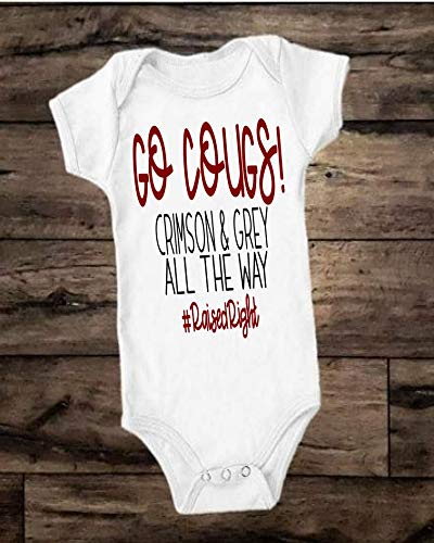 GO COUGS WSU Bodysuit - Crimson and Grey All the Way #RaisedRight