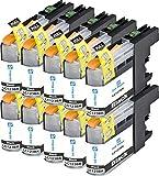 Ink Maxx Cartouche d'encre compatible pour Brother LC-123, LC-121 ( Pack de 6)