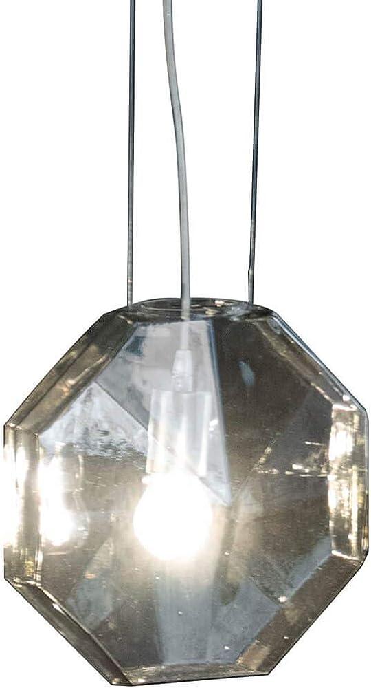 Karman 24 karati, lampada a sospensione,rosone in metallo laccato trasparente SE1131FINT
