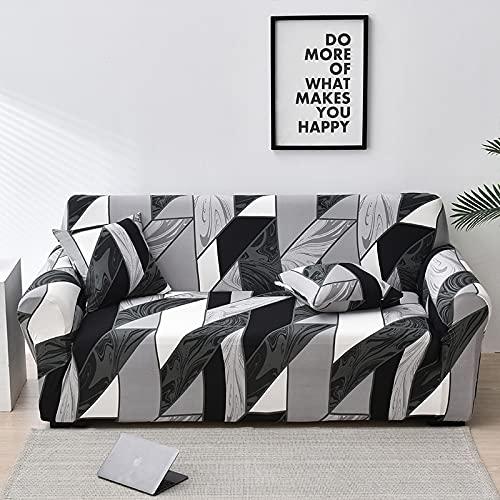 PPOS Sofá elástico Funda de sofá Todo Incluido para Sala de Estar Fundas de Esquina sofás con Chaise Longue Funda de sofá Funda para Muebles D12 4 Asientos 235-300cm-1pc