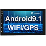 Android 9.1 Radio de Coche GPS Bluetooth CAMECHO Doble DIN Pantalla Táctil Completa de 7 Pulgadas WiFi Radio FM Enlace Espejo para Teléfonos iOS/Android 2 DIN Reproductor Estéreo de Coche