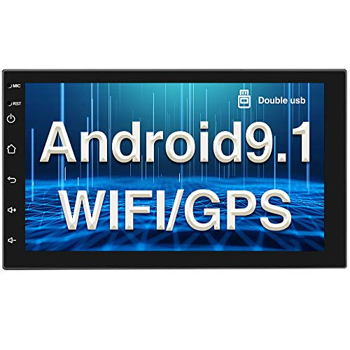 Android 9.1 Autoradio GPS Bluetooth CAMECHO Double Din 7 pollici Full Touch Screen WIFI FM Radio Mirror Link per Telefoni IOS/Android 2 din Lettore Stereo per Auto