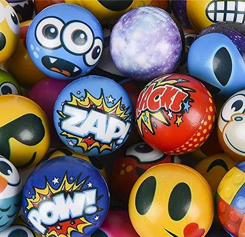 Happy Deals~ Stress Balls Bulk Value Assortment (100 Pack) Stress Relax Toy Balls, Ball Assortment