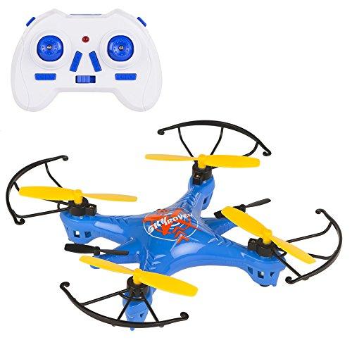Sky Rover - Mini dron radio control de 4 canales y giros 360º, 16 x 16 cm (ColorBaby 41832)