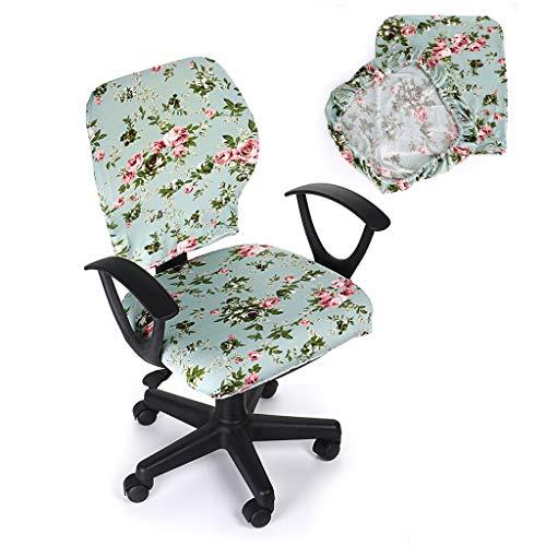 BTSKY – widerstandsfähiger, elastischer Sitzbezug für Bürostühle, zweiteiliges Design (Stuhl nicht im Lieferumfang enthalten) grün
