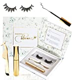 Magnetic Eyeliner and Lashes Kit - Long Lasting Waterproof Reusable Eyelashes - Magnet Lashes Come with Convenient Storage Box - Magnet Eyeliner - Natural Looking - No Glue Required… (1)