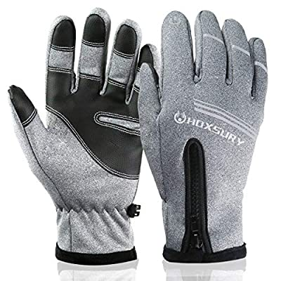 N/H HOXSURY Winter Gloves, Windproof Waterproof Warm Touchscreen Gloves Men Women, Outdoor Winter Thermal Gloves for Cycling Riding Running Work