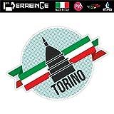 erreinge Sticker Torino Italia Souvenir Adesivo Sagomato in PVC per Decalcomania Parete Murale Auto Moto Casco Camper Laptop - cm 10