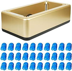 Happyyami Dispensador Automático de La Cubierta Del Zapato de La Máquina con 100Pcs La Cubierta Plástica Desechable Del Zapato de La Bota para La Oficina en Casa Médica