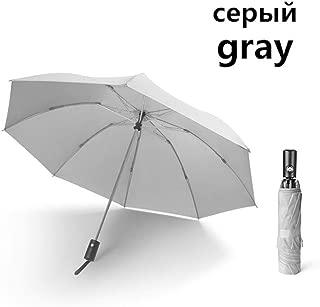 YWSCXMY-AU Quality 8K Inverted Automatic Umbrella Men 3 Folding Reverse Windproof Car Umbrella Rain Women Upgrade Waterproof Small Umbrella (Color : Gray)