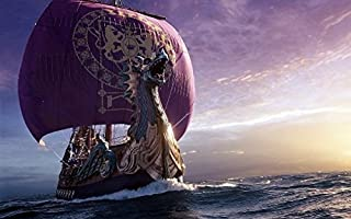 makeuseof Painting Viking Long Ship Home Decoration Canvas Poster 24x36 inch Silk Poster wall decor