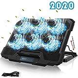 YockTec Refrigeracion Portatil Ventilador Gaming Cooler 12-17.5 Pulgadas,[Nueva Versión 2020] Base de Refrigeración Gaming para Portátil, Puerto USB + Varias inclinaciones + Soporte Estable
