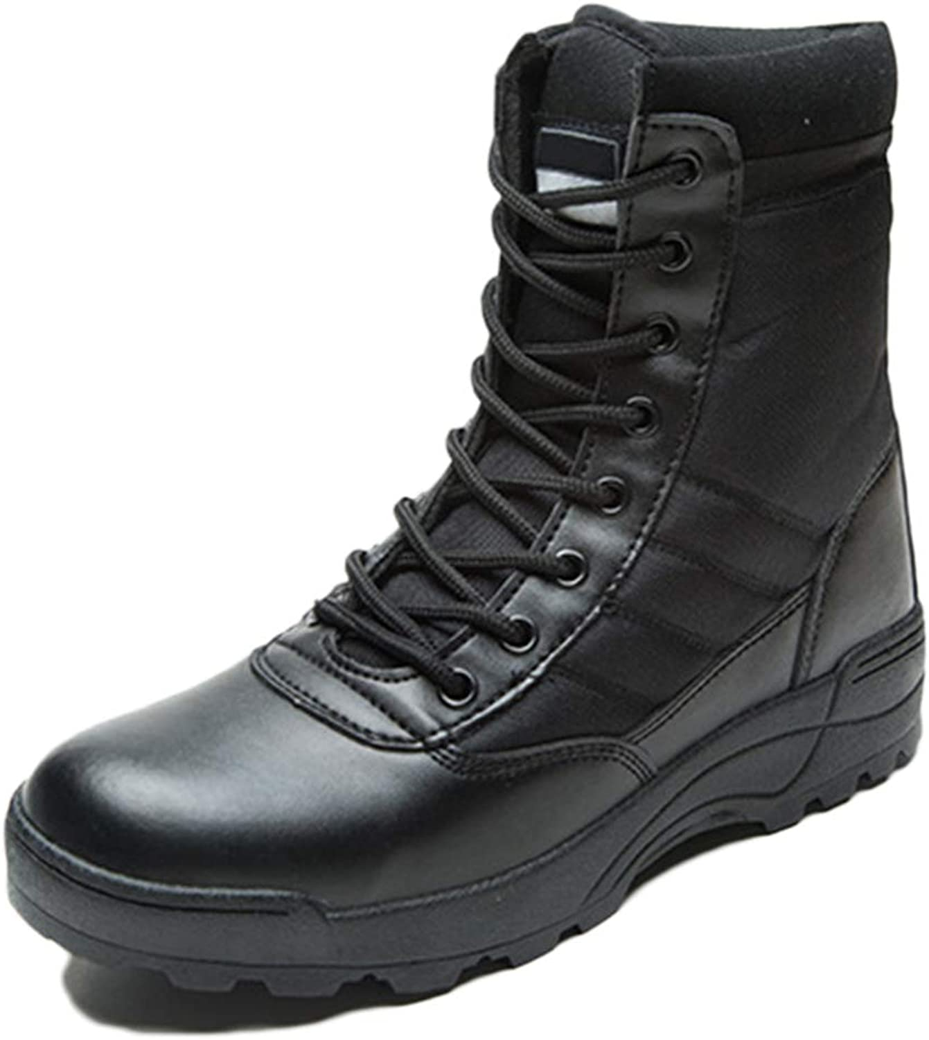 ASJUNQ Men's Skid Work Boots High Top Army Boots Chelsea Wear Martin Boots Hiking shoes Desert Boots