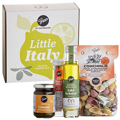 Gepp's Feinkost Little Italy Box I Geschenkbox gefüllt mit hausgemachter Pasta & feinsten italienischen Spezialitäten, hergestellt nach eigener Rezeptur I Gourmet Geschenkidee für Männer & Frauen