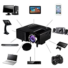 High Definition Quality: When this video projector's screen is enlarged to 20-80 inches for a big screen shock, you can also enjoy a extremely clear and very natural picture. Projection Distance: 1.25-4.0M, full HD 1080p, widescreen 3D performance fo...
