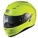 Kabuto Kamui Solid Helmet with Inner Shade , Gender: Mens/Unisex, Helmet Type: Full-face Helmets, Helmet Category: Street, Distinct Name: Flash Yellow, Primary Color: Yellow, Size: XS XF-3-74-1108XS
