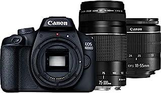 Canon 3011C010 EOS 4000D Black 18-55 DC +Canon 75-300mm lens Kit