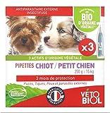 Pipetas orgánicas para cachorros / perros pequeños
