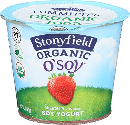 Stonyfield Farm, Yogurt Soy Cultured Strawberry Organic, 5.3 Ounce