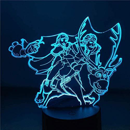 Dalovy Festival 3D Lámpara de Ilusión Luz de Noche Led Ann