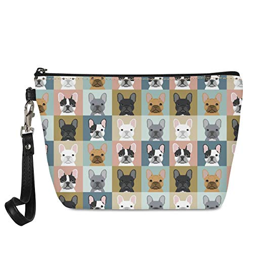Cosmetic Bag for Women,Large Makeup Bags Travel Waterproof Toiletry Bag Accessories Organizer French Bulldogs
