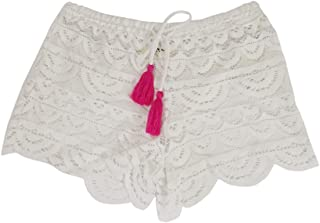 Juniors Scalloped Crochet Cover-Up Shorts