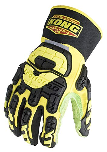 Ironclad KONG SDX2-HAD-07-XXXL High Abrasion Dexterity Oil and Gas Safety Impact Gloves, XXX-Large,Yellow/Black/Green