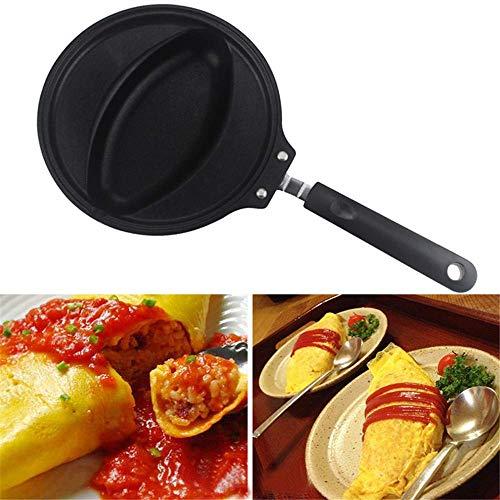 Koekenpan Non - Stick Pan,Ei Vorm Koekenpan,Gegoten Aluminium Omelette Maker Keuken Kookgerei voor Gas Fornuis